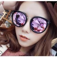 新款炫彩反光百搭墨镜 防紫外线偏光太阳镜女 大圆框眼镜 支持礼品卡