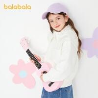 【3件4.5折:157.5】巴拉巴拉女童外套2021新款春装童装中大童儿童冲锋衣简约纯色百搭