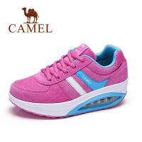 Camel/骆驼新款 系带摇摇底运动鞋 户外休闲气压垫舒适女鞋