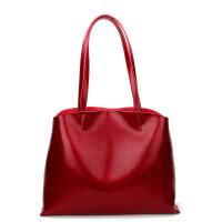 2018夏季新款欧美时尚真皮女士包包大容量牛皮购物袋手提包单肩包斜挎包