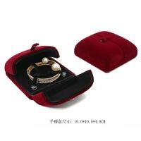求婚戒指盒结婚首饰盒红色陪嫁婚礼森系对戒盒耳钉盒项链盒子