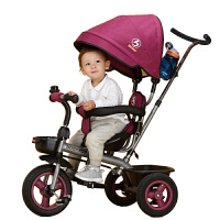 宝仕儿童三轮车脚踏车出口欧美婴儿手推车1-3岁宝宝童车免充气轮自行车 T302雷丘