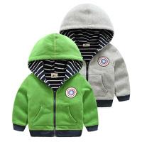 男童连帽外套 秋装儿童双层拉链卫衣童装宝宝上衣潮