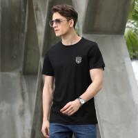 9811夏装新款吉普盾男士薄款短袖T恤衫 圆领大码宽松休闲半袖男polo衫