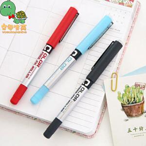 乌龟先森 中性笔 直液式走珠笔多种颜色可选圆珠笔针管型不可替换笔尖学生考试奖品办公文具用品书写绘画笔(六支装