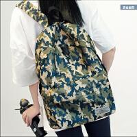 包包新款迷彩双肩包女韩版学院风中学生书包男背包休闲旅行包