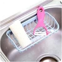 厨房水槽洗碗海绵置物架沥水架A806多功能杂物双吸盘沥水收纳架