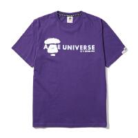 Aape男装春夏幻彩字母印花喷绘效果猿颜图案短袖T恤2991XXA