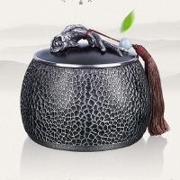 纯锡茶叶罐根本大号锡罐锡器金属密封储茶罐高档商务礼品支持定制 图片色