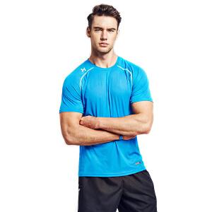美国HOTSUIT运动T恤男2018夏季新款V领短袖吸湿排汗修身男装上衣5610076