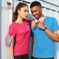 【两件包邮】camel骆驼户外运动T恤 男女吸汗透气衣圆领短袖运动衫