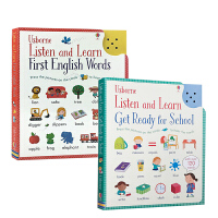 Usborne Listen and Learn 点读发声书英文原版2册绘本:English Words/Get Re