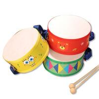 木制早教启蒙奥尔夫乐器 双面鼓儿童益智玩具手拍鼓婴幼儿教具