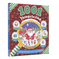1001 Things to Find Christmas 1001个找找乐圣诞主题 儿童益智活动书 开发大脑 英文原