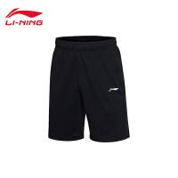 李宁短裤短卫裤男士2017新款训练系列夏季针织运动裤AKSM119