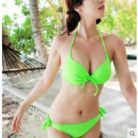 女泳衣 户外新款性感钢托小胸聚拢女游泳衣比基尼两件套大胸泳装
