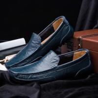 豆豆鞋男士休闲鞋夏季透气男鞋驾车鞋英伦商务皮鞋一脚蹬懒人鞋子