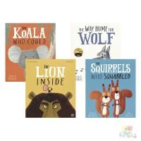 Rachel Bright 我做得到系列4册 The Lion Inside 小老鼠和大狮子 考拉做得到 小狼要回家 这