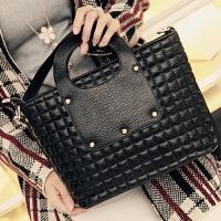 莫尔克(MERKEL)包包2018新款女菱格手提包女式时尚潮流单肩包休闲斜跨小方包