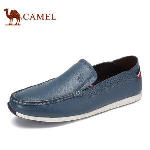 camel 骆驼男鞋 夏季新品时尚休闲低帮鞋日常休闲套脚皮鞋男