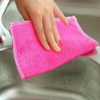 【卷后价8.9元】10条装纤维洗碗巾抹布纤维抹布厨房清洁布颜色随机