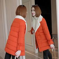 2018新款反季中长羽绒女学生时尚修身韩版棉袄加厚保暖冬外套