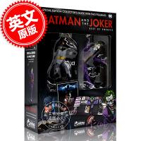 现货 蝙蝠侠与小丑 收藏模型手办书套装 英文原版 Batman and The Joker Plus Collecti