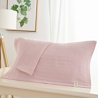 枕头毛巾纯棉一对大号棉加厚款毛巾忱卡通粉色可爱枕巾学生宿舍 粉红色