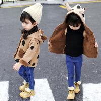 女童外套秋冬装女宝宝保暖休闲上衣潮衣