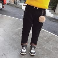 女童冬季牛仔裤修身裤小脚裤裤子牛仔长
