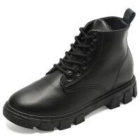 马丁靴女短筒靴子秋冬季学生韩版百搭英伦风鞋子高帮ins平底