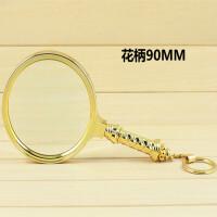 OUJIN 90mm黄色手持放大镜精美礼品放大镜读书放大镜 手柄带挂扣放大镜 送长辈礼物 103