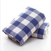 毛巾【支持礼品卡】日系格子纱布纯棉毛巾成人美容面巾礼品公司定制