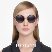 暴龙2016新款摩登复古太阳镜女款个性俏皮圆框显脸小墨镜潮BL6013