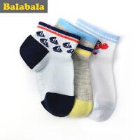 巴拉巴拉童装男童袜子小童宝宝童袜2017夏季新款儿童棉袜男3双装