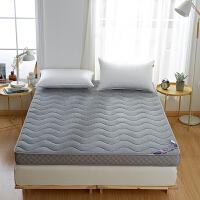 加厚乳胶床垫软垫1.5m床家用双人海绵床垫单人学生宿舍垫被床垫 乳胶床垫【加厚7cm,三明治款 深玄灰】