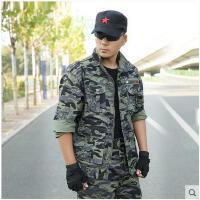 户外军迷服装套装男迷彩服作训服夏装 多袋工作服装