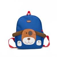 幼儿园儿童书包可爱小狗--岁男宝宝女童中小班双肩包旅游背包 玫