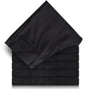 Youngor/雅戈尔商务男士羊毛深色西裤直筒长裤TX20267-22