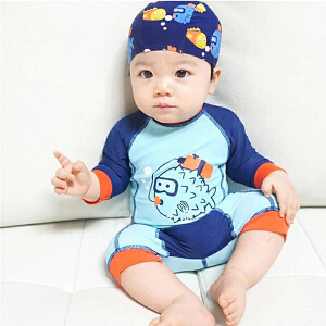 Yinbeler潜水鱼婴儿连体泳衣+帽