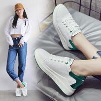 休闲鞋女新款小白鞋女韩版百搭内增高女鞋子坡跟白色休闲鞋板鞋潮