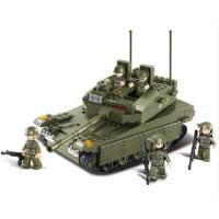小鲁班积木拼装 军事坦克模型 6岁儿童拼插组装积木模型益智玩具