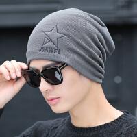 帽子男冬天潮休闲刺绣针织毛线帽秋冬季青年套头包头帽