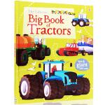 英文原版绘本 The Usborne Big Book of Tractor 拖拉机 精装大开儿童图画书 科普认知 内