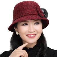 中年老人帽子女士保暖妈妈帽盆帽奶奶渔夫帽婆婆帽子女秋冬季加厚