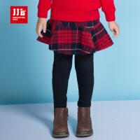 季季乐童装2017冬季新女童打底裤女孩外穿时尚裤裙休闲裤子长裤韩