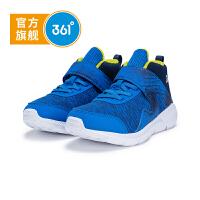 【3折到手价:89.7】361度童鞋 男童跑鞋 中大童 冬季新品N71843509降落伞蓝/深灰蓝