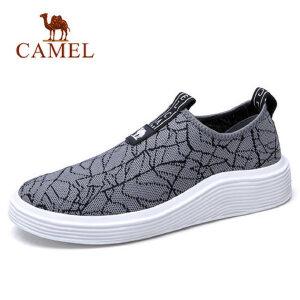 camel 骆驼男鞋春季新款运动鞋男飞织网鞋轻便跑步运动鞋跑鞋