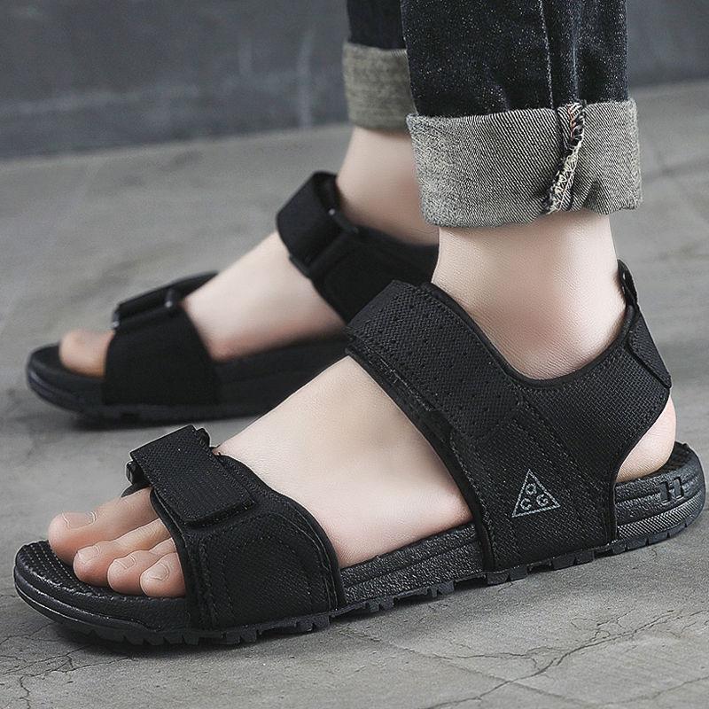 越南皮凉鞋男士沙滩鞋2019新款夏拖鞋两用学生运动户外大码休闲鞋