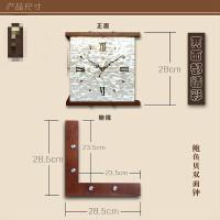 两面挂钟 天蓝现代简约双面挂钟客厅艺术装饰时钟挂墙时尚家用钟饰两面北欧钟表 11英寸(直径28厘米)
